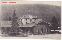 #7716 Slovakia, Iglofured, Spisska Nova Ves, Postcard Mailed 1917: The Great Bathroom, Flag - Slovaquie