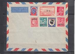 LOT De 7 Timbres Neufs Sur Lettre  D ' ALGERIE  Affranchissement Philatelique - Algérie (1924-1962)