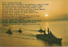 Squadra Navale In Navigazione Al Tramonto E Preghiera Del Marinaio, Marina Militare Italiana - Guerra