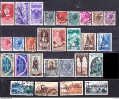 1953 ITALIA ANNATA COMPLETA Con Turrita Ruota USATO - Années Complètes