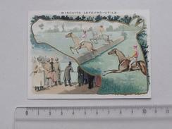 CHROMO LU LEFEVRE UTILE: Utilisation Cheval - Tiercé Hippisme Jockey Obstacle Jeu - Lithographie Parisienne - Lu
