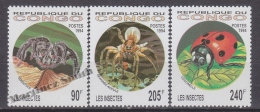 Congo Republic 1994 Yvert 991-93, Fauna, Insects - MNH - República Del Congo (1960-64)