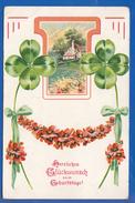 Fantaisie; Geburtstag; Anniversaire; Birthday; Kleeblatt Und Landschaft; 1913 - Anniversaire