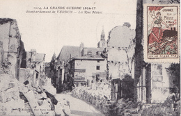 S- GUERRE 14 17  COMMEMORATION JOURNEE DE LA MEUSE 1917 BOMBARDEMENT DE VERDUN CACHET DE LA JOURNEE DE LA MEUSE AU VERSO - Clermont En Argonne