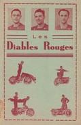 MOTOS--LES DIABLES ROUGES---carte PUB---voir 2 Scans - Motos