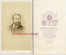 CDV Vers 1870-portrait D'homme Par Pierre Petit Photographe Du Roi De Prusse, De L'épiscopat, Du Duc De Bade-Bel état- - Photos