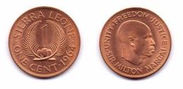 Sierra Leone 1 Cent 1964 - Sierra Leone