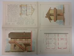 PETITES CONSTRUCTIONS FRANCAISES PL41 A 44 CHALET ED THEZARD DOURDAN - Architecture