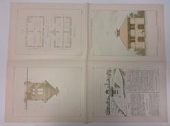 PETITES CONSTRUCTIONS FRANCAISES PL17 A 20 Ecurie Remise ED THEZARD DOURDAN - Arquitectura