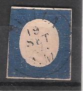SARDEGNA /  Anciens Etats Sardaigne, 1854, Yvert N° ,8  20 C Bleu Obl, TB - Sardaigne