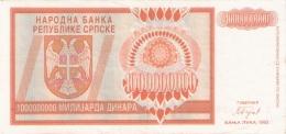 BOSNIE - HERZEGOVINE   1 Milliard Dinara   1993   P. 147a - Bosnia Erzegovina