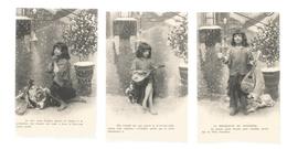 Cp , Enfants , LA MENDIANTE DU PANTHEON , Musique , Musicienne , Vierges , 2 Scans , LOT DE 6 CARTES POSTALES - Children