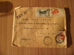 Lettre Par Avion Tananarive Le 17-11-1948 Pour Paris Les N°301;303;309;311 Et 313   B/TB - Briefe U. Dokumente