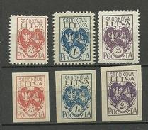 1920 Mittellitauen Central Lithuania Michel 1 - 3 A + B * - Litouwen