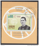 Bf. 504A Sharjah 1968 Soccer Calcio Milan JUAN ALBERTO SCHIAFFINO Nuovo Preoblt. Perforato. - Berühmte Teams