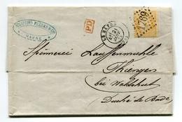 !!! LETTRE DU HAVRE DU 21/1/1874 POUR LE GRAND DUCHE DE BADE - 1849-1876: Periodo Clásico