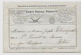 CPA Sur Le Thème De La Carte Postale Circulé Carte Sur La Carte Carte Pochette 2 Scans - Post & Briefboten