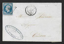 Basses Pyrénées - P.C. 100  Et  Cachet Type 15  ARAMITS - Postmark Collection (Covers)