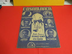 Musique & Partitions > Chansonniers > Casablanca -Paroles G. Ulmer -Musique Géo Koger - Musique & Instruments