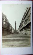 PHOTO ORIGINALE LA COLONNE VENDOME AVANT SA CHUTE ? EN 1871 FORMAT CARTE DE VISITE - Lieux