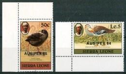 1984 Sierra Leone AUSIPEX 84 Uccelli Birds Oiseaux Set MNH** RR14 - Sierra Leone (1961-...)