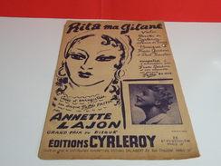 Musique & Partitions > Chansonniers > Rita Ma Gitane -Paroles Cyrleroy & A. De Berry -Musique F. Gardoni & P. Roustan - Music & Instruments