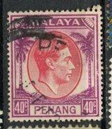 Malaya Penang 1949  40c King George Issue #18  Used - Penang