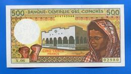 Comore  500  Fr   Neuf  X.06 - Comoros