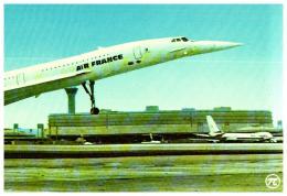 AVION , CONCORDE Super-sonique   , Air France à L'aérogare Charles De Gaulle - 1946-....: Moderne