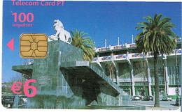 PHONECARDS-- PORTUGAL-- TELECOM CATD- €6- 100 IMPULSOS. ESTADIO JOSE ALVALADE -- SPORTING CLUB PORTUGAL - Portugal