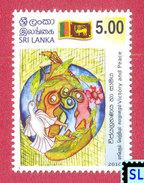 Sri Lanka Stamps 2010, Victory And Peace, Bird, Pigeon, Flags, MNH - Sri Lanka (Ceylon) (1948-...)