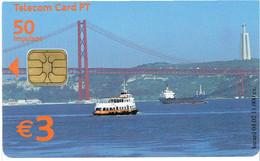 PHONECARDS-- PORTUGAL-- TELECOM CARD PT 50 IMPULSOS--  CACILHEIRO CRISTO REI --- LISBOA - Portugal