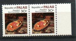 Palu  1983 30 Cent Sea Cucumber Issue #16  Pair MNH - Palau