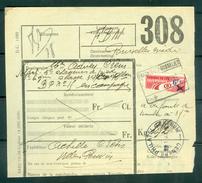 """Vrachtbrief Met Halve Zegel TR 204 (colis Militaire) - Cachet  """"FRASNES-LEZ-GOSSELIES""""  - (ref. Nr 279) - Chemins De Fer"""