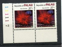 Palu  1983 37 Cent Sea Urchin Issue #17  Pair MNH - Palau