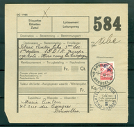 """Vrachtbrief Met Halve Zegel TR 204 (colis Militaire) - Cachet  """"BRUXELLES-BRUSSEL 10"""" Litt. F  - (ref. Nr 280) - Chemins De Fer"""