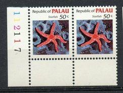 Palu  1983 50 Cent Starfish Issue #18  Pair MNH - Palau