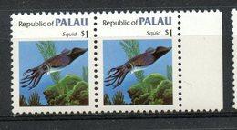 Palu  1983 $1.00 Squid Issue #19  Pair MNH - Palau