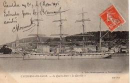 """76 CAUDEBEC-en-CAUX Le Quatre Mâts """" Le Quevilly"""" - Caudebec-en-Caux"""