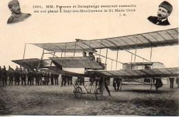 Aviation : Farman Et Delagrange Essayent Ensemble Un Vol Plané à Issy Les Moulineaux Le 21 Mars 1908 - Aviateurs