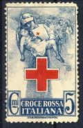 Erinnofili, Italia 1915, Croce Rossa Italiana Cent. 5 - Unclassified