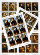 Yugoslavia 1977 Art - Portraits Sheet Of 9, MNH (**) Michel 1708-1713 (M/S Mini Sheet) - Blocks & Kleinbögen