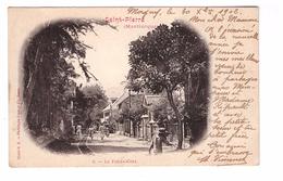 Martinique Saint Pierre + Timbre Cachet 1902 Le Fonds Coré - Martinique