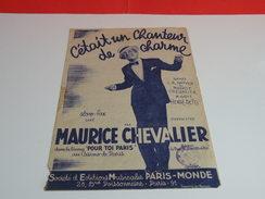 Musique & Partitions > Maurice Chevalier > C'Était Un Chanteur De Charme - Paroles + Musique édit Paris Monde - Musique & Instruments