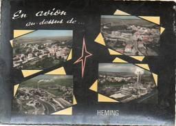 CPSM Dentelée - HEMING (57) - Carte Multi-Vues De Vues Aérienne Dans Les Années 60 - Autres Communes