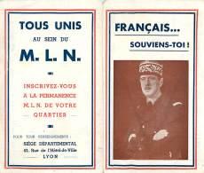 Français ...Souviens-Toi - Charles De Gaule - Viens Avec Nous Adhère Au Mouvement De Libération Nationale - 1939-45