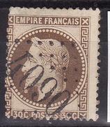 FRANCE 1863  Mi 29 GC 4090 VALMONT   USED - 1863-1870 Napoleon III With Laurels