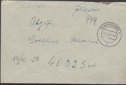 3126 Alemania Feldpost  1943 ,  Nº 40325  Soldado, Regensburg - Deutschland