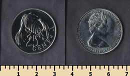 British Virgin Islands 25 Cents 1980 - Iles Vièrges Britanniques