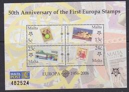 Malta 2006 50Y Europa M/s ** Mnh (ML171G) Promotion - European Ideas